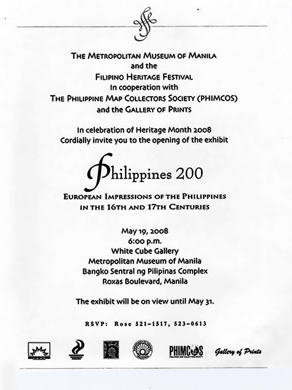 Philippines 200 – European Impressions of the Philippines in the 16th and 17th Centuries