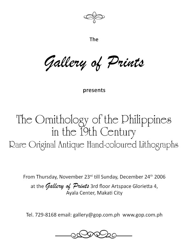 The Ornithology of the Philippines - The Ornithology of the Philippines