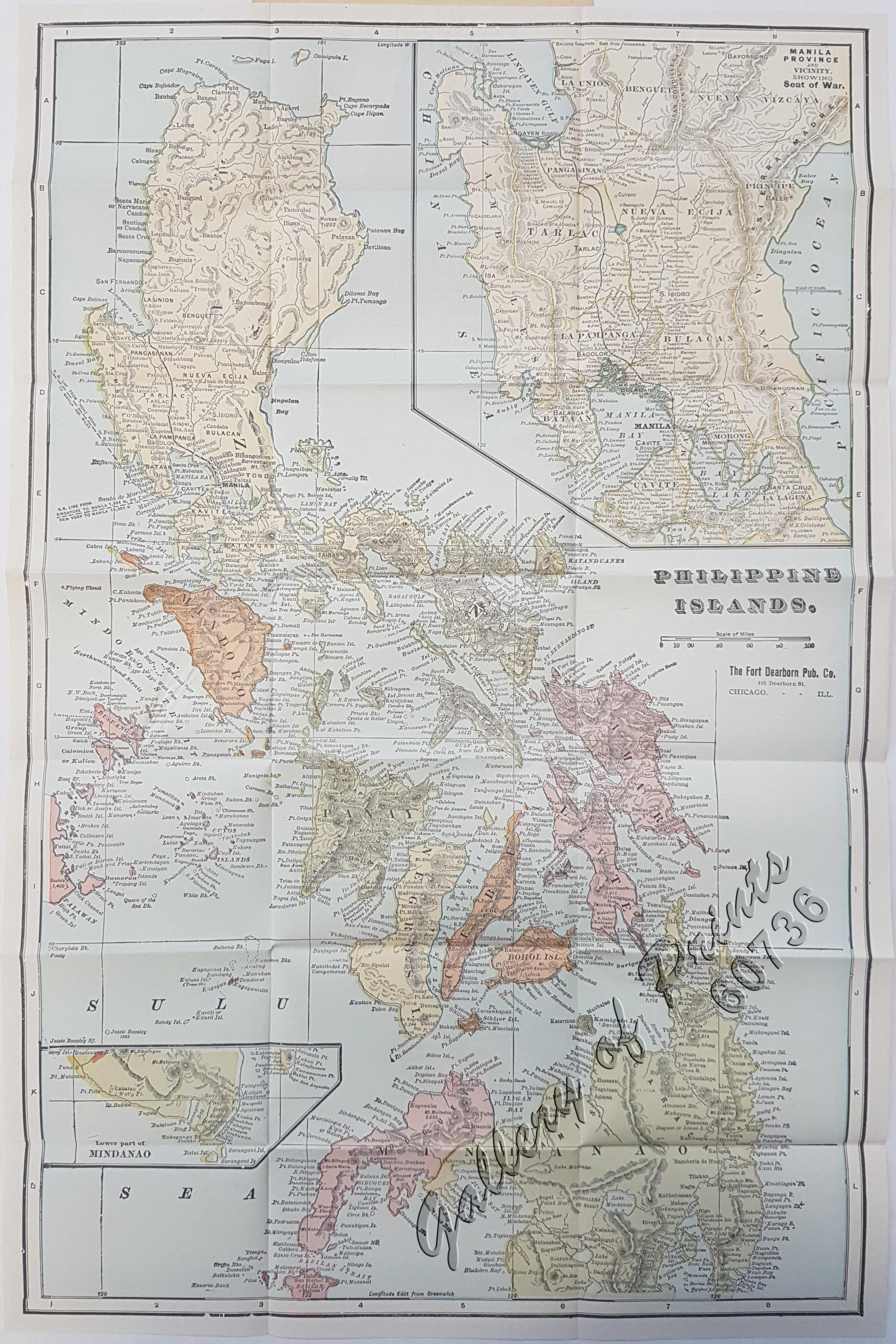 Philippine Islands Inset 1 Manila Province And Vicinity Showing