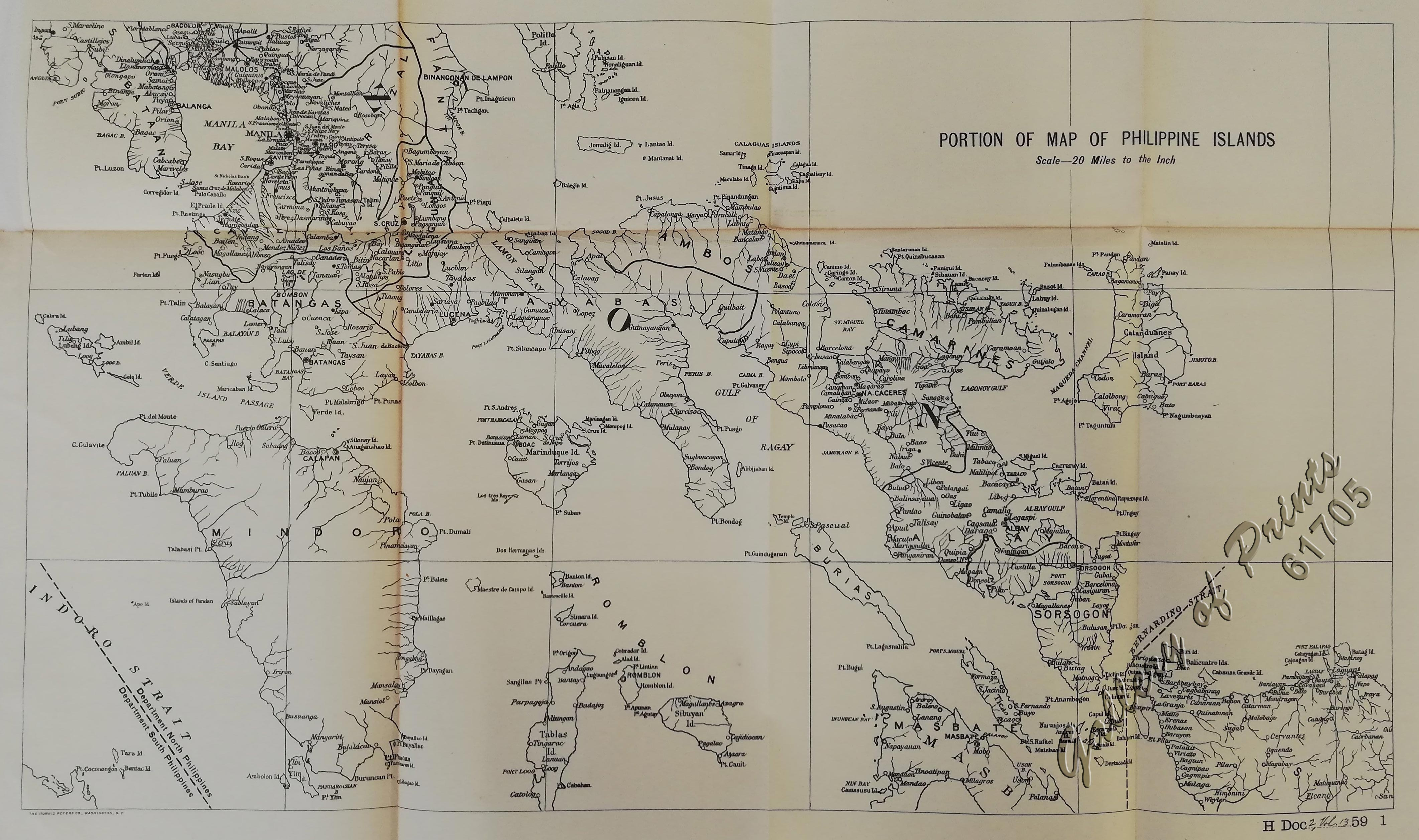 2b330f75159d6 Portion of Map of Philippine Islands